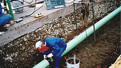 都市ガス 中圧配管老朽入替工事